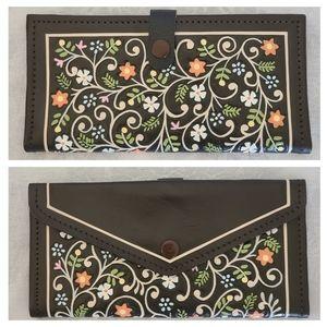Beautiful VTG Handpainted Wallet